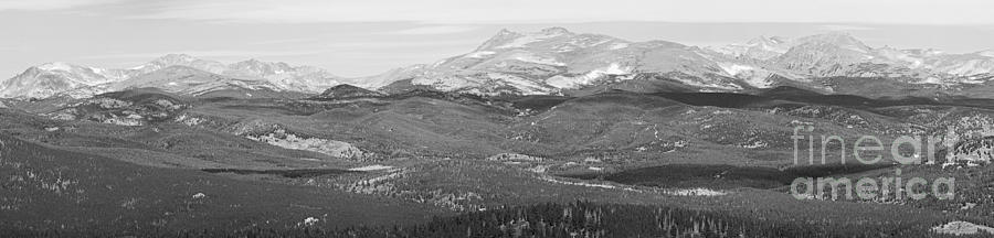 Colorado Continental Divide Panorama Hdr Bw Photograph