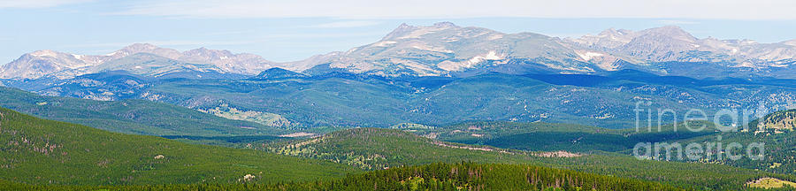 Colorado Continental Divide Panorama Hdr Crop Photograph  - Colorado Continental Divide Panorama Hdr Crop Fine Art Print