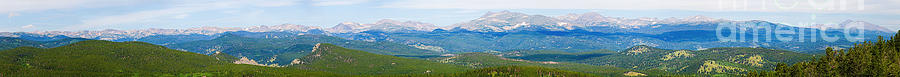 Colorado Continental Divide Panorama Hdr Photograph