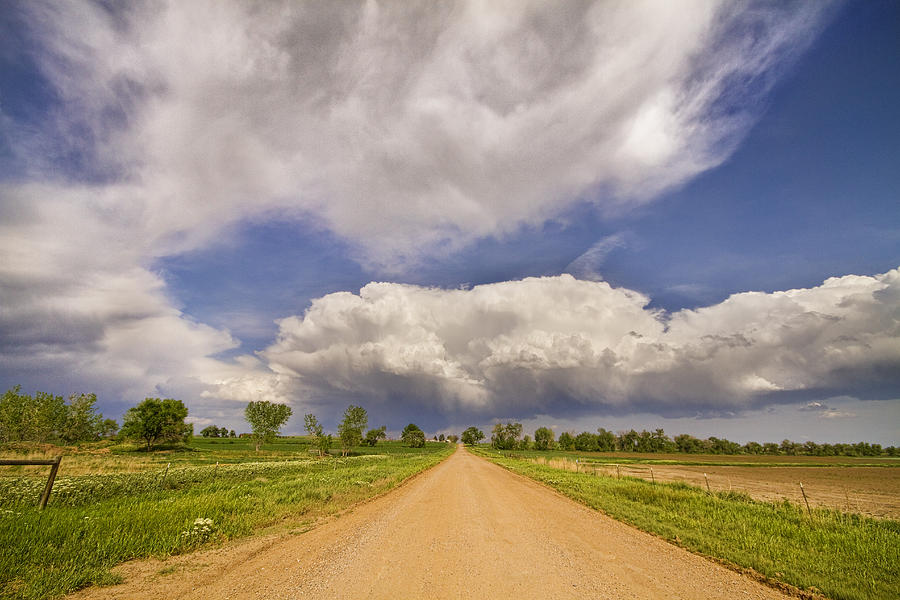 Colorado Country Road Stormin Skies Photograph  - Colorado Country Road Stormin Skies Fine Art Print