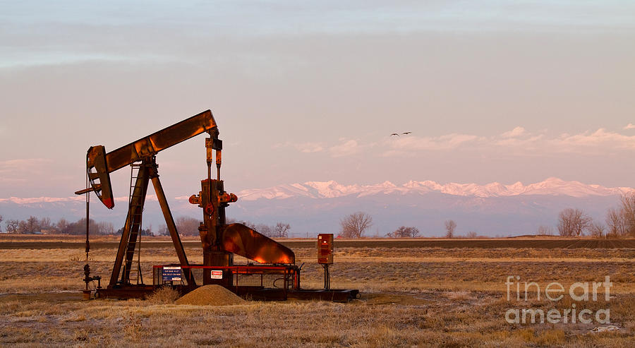 Colorado Oil Well Panorama Photograph  - Colorado Oil Well Panorama Fine Art Print
