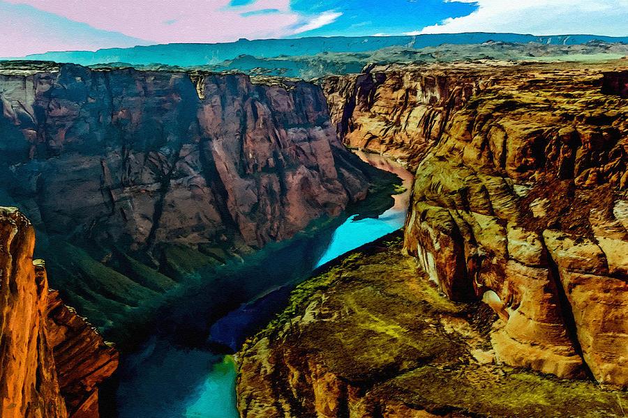 Colorado River Grand Canyon Painting