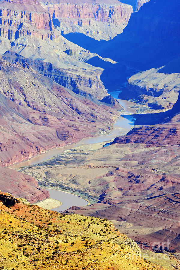 Colorado River Winding Through The Grand Canyon Photograph
