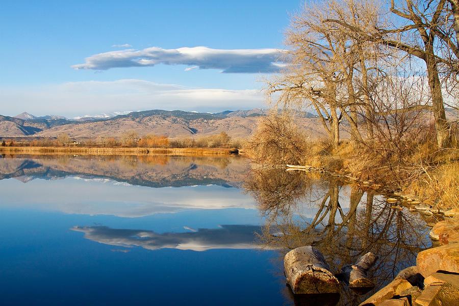 Colorado Rocky Mountain Lake Reflection View Photograph