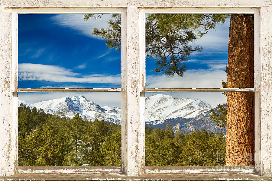 Colorado Rocky Mountain Rustic Window View By James Bo