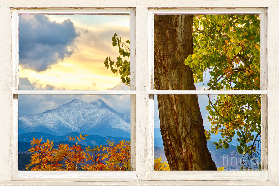 Colorado Rocky Mountains Rustic Window View Photograph