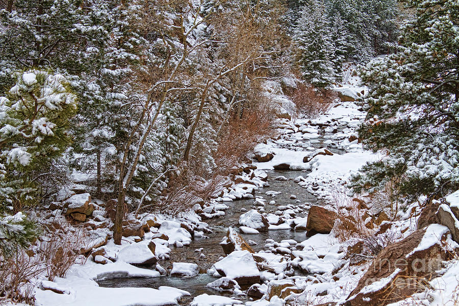 Colorado St Vrian Winter Scenic Landscape View Photograph  - Colorado St Vrian Winter Scenic Landscape View Fine Art Print