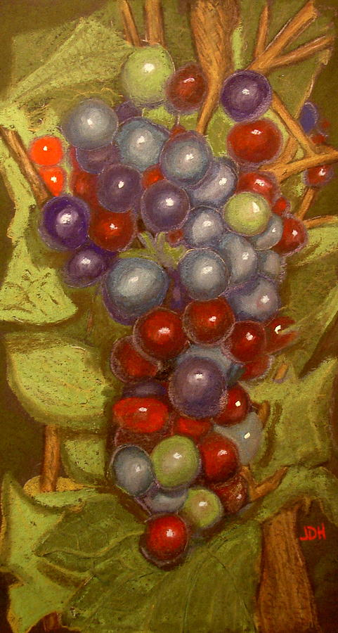 Colored Grapes Pastel