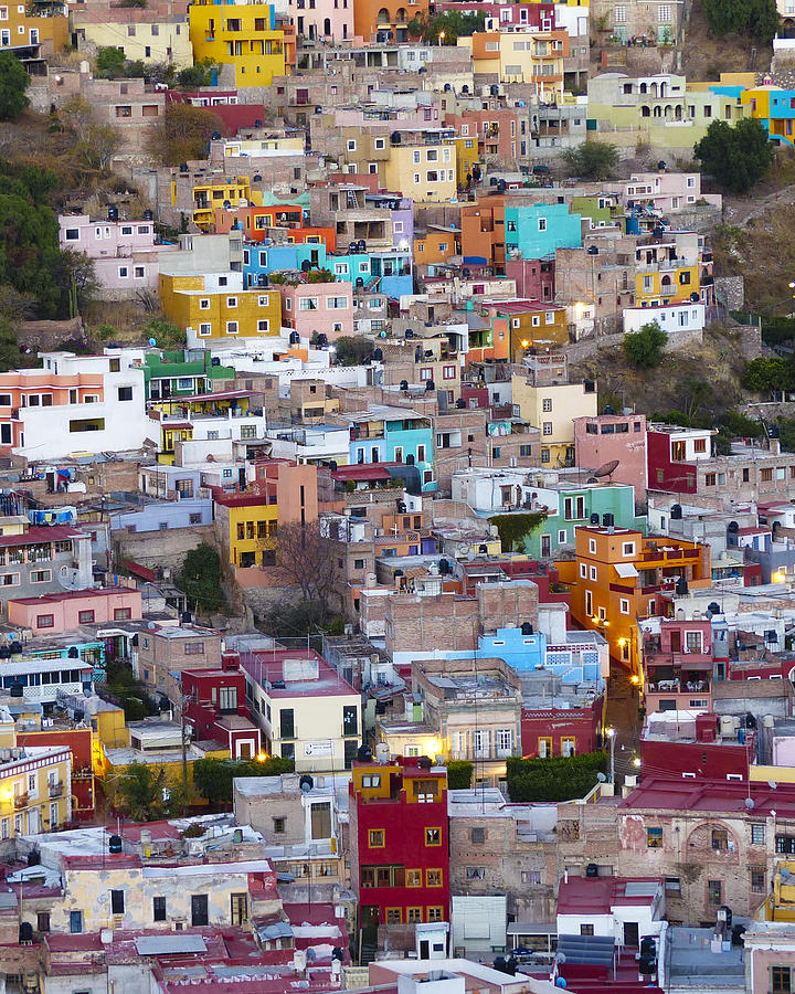 Mexico Photograph - Colored Homes by Douglas J Fisher