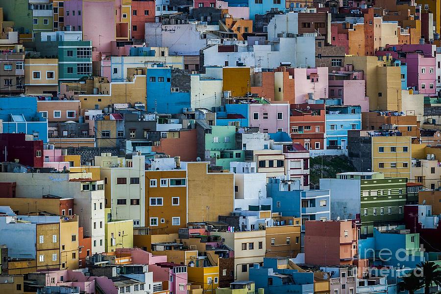 Colored houses san juan las palmas spain photograph by - Tv chat las palmas ...