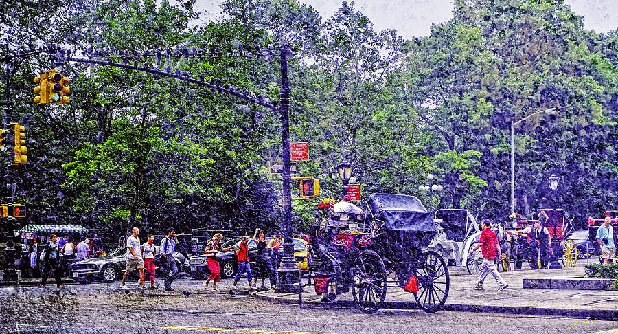 Colored Memories - Central Park Photograph