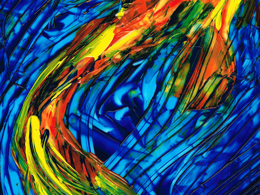 Colorful Abstract Art - Energy Flow 3 - By Sharon Cummings Painting