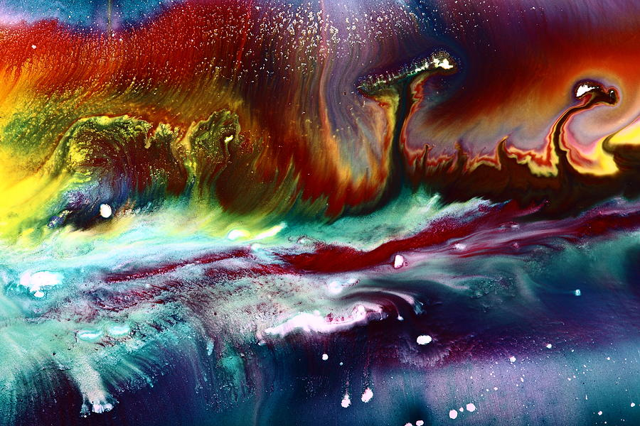 Colorful Abstract Art Vivid Colors Rainbow Landscape By Kredart  Painting