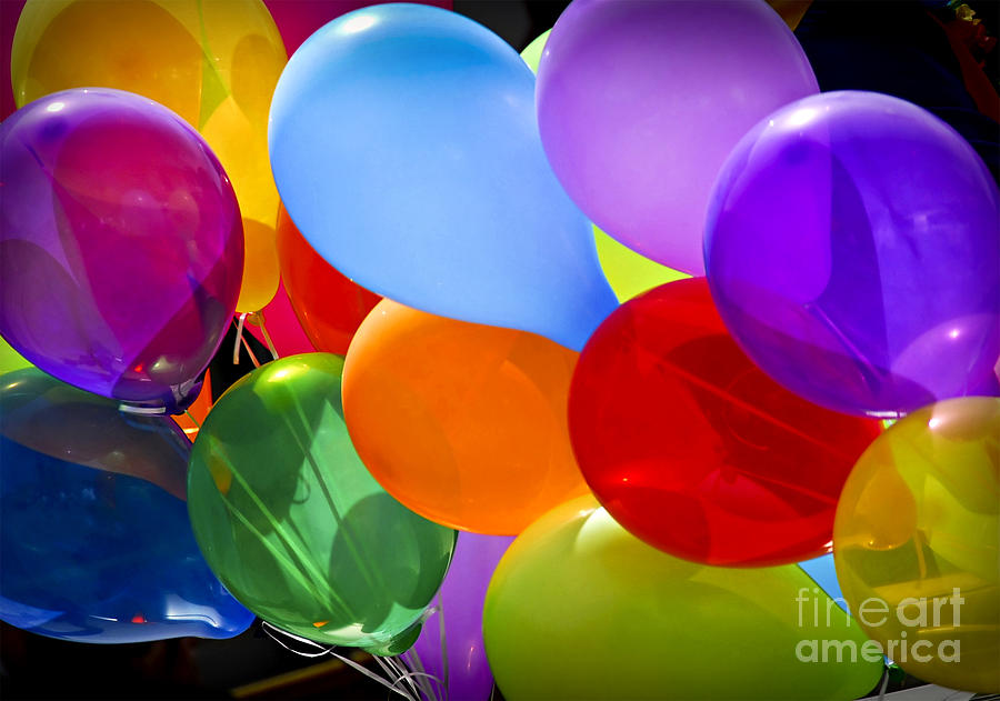 Colorful Balloons Photograph  - Colorful Balloons Fine Art Print