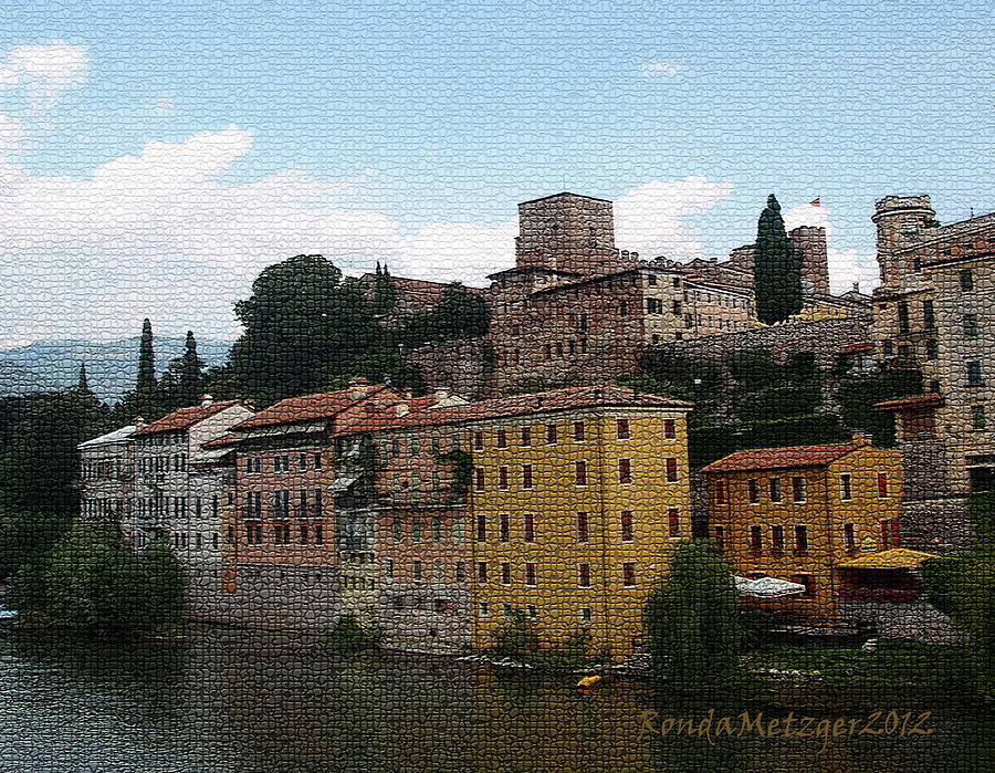 Colorful Bassano Del Grappa Photograph  - Colorful Bassano Del Grappa Fine Art Print