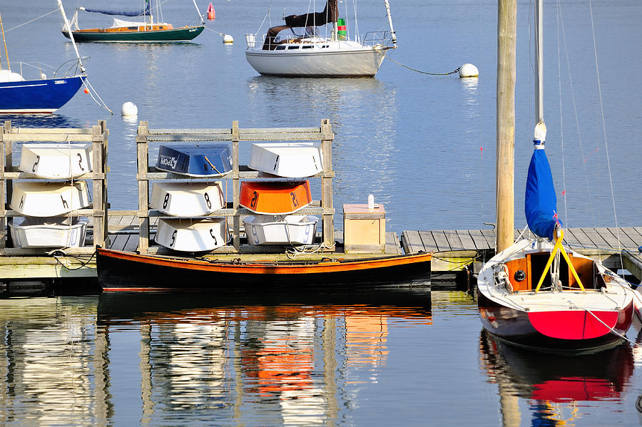 Colorful Boats Rockland Maine Photograph