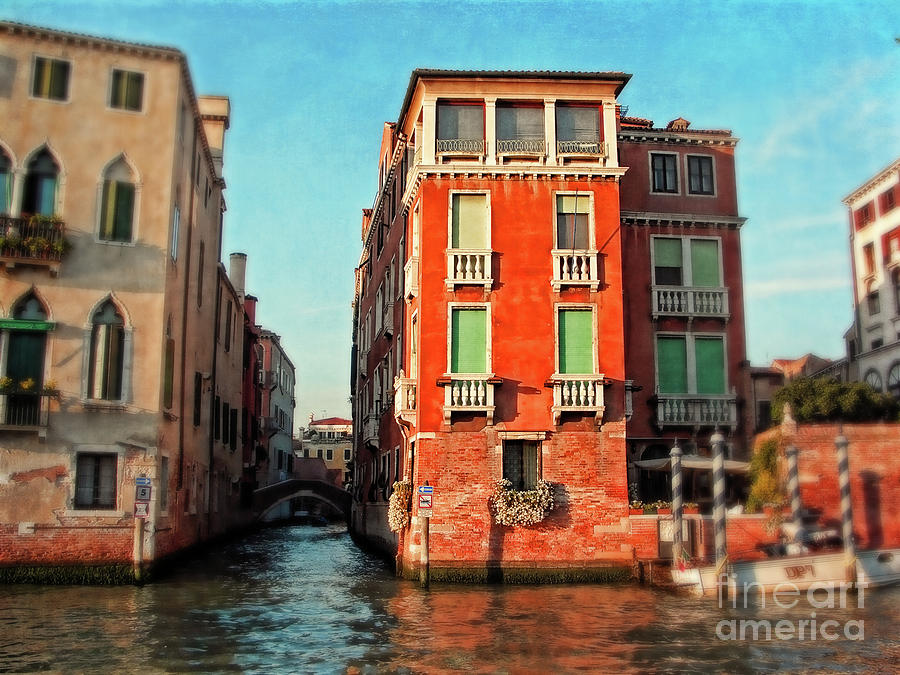 colorful buildings in venice photograph by sylvia cook