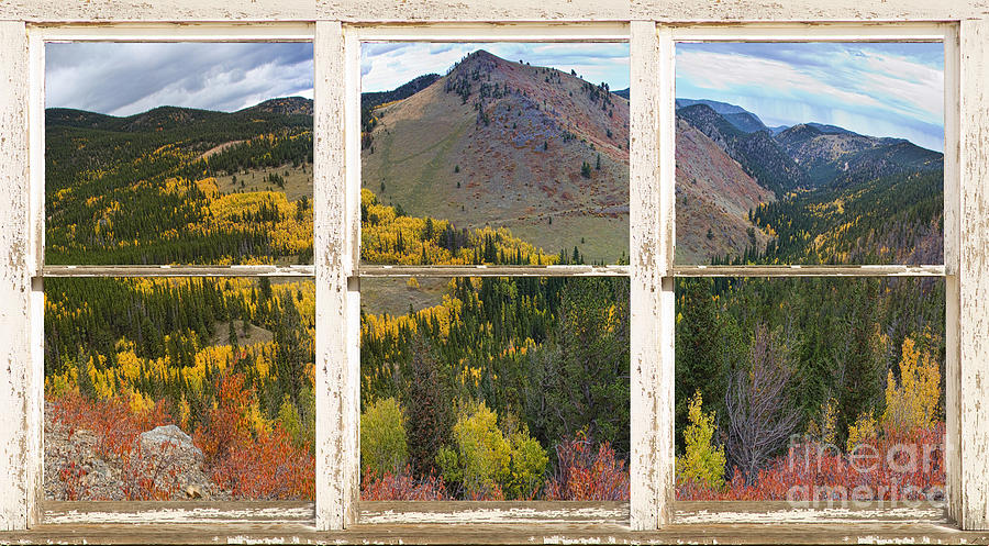 Colorful Colorado Rustic Window View Photograph  - Colorful Colorado Rustic Window View Fine Art Print
