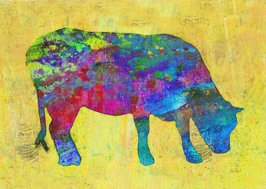 colorful cows colorful cow drawing colorful cow paintings a colorful ...