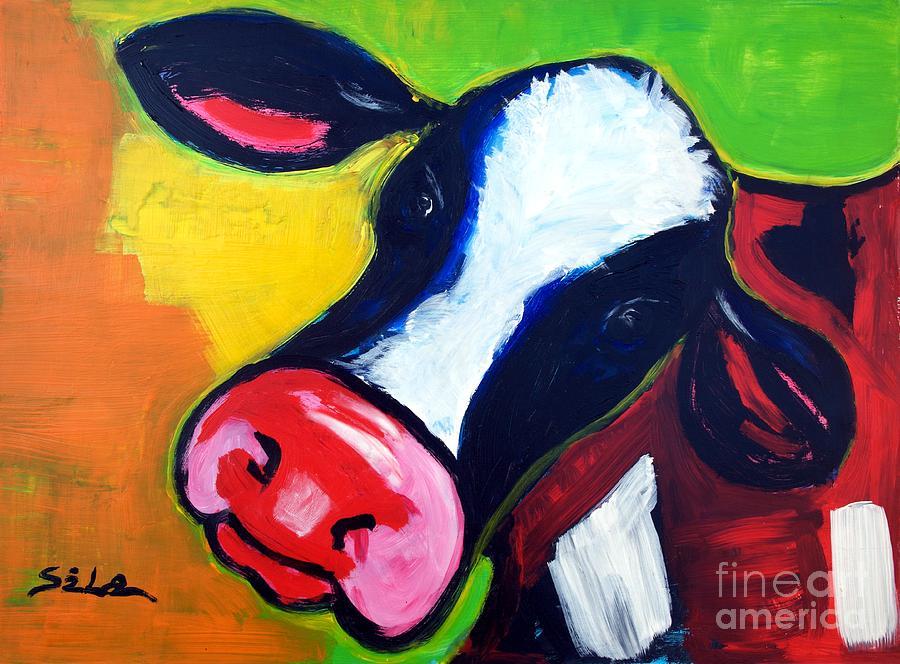dressing colorful cows colorful cow drawing colorful cow paintings a ...