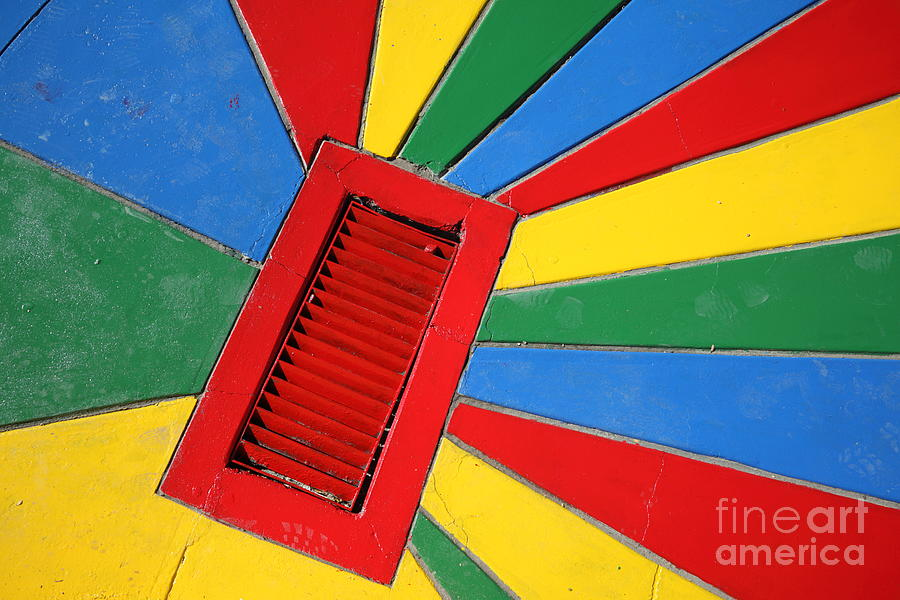 Colorful Drain Photograph  - Colorful Drain Fine Art Print