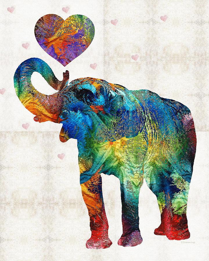Colorful Elephant Art