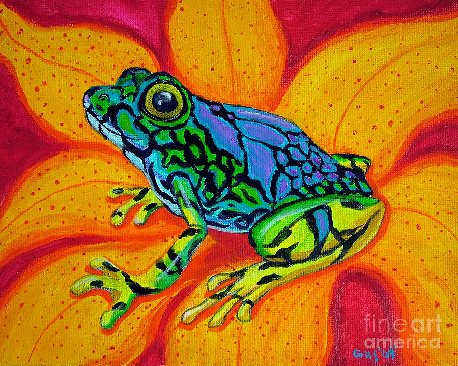 Colorful Frog Art Colorful Frog by Nick