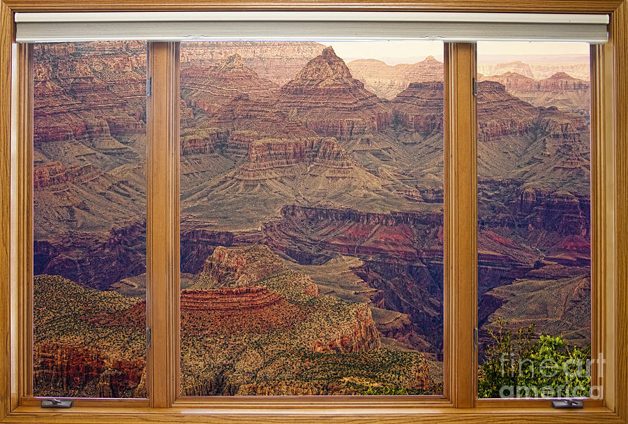 Colorful Grand Canyon Modern Wood Picture Window Frame View By James