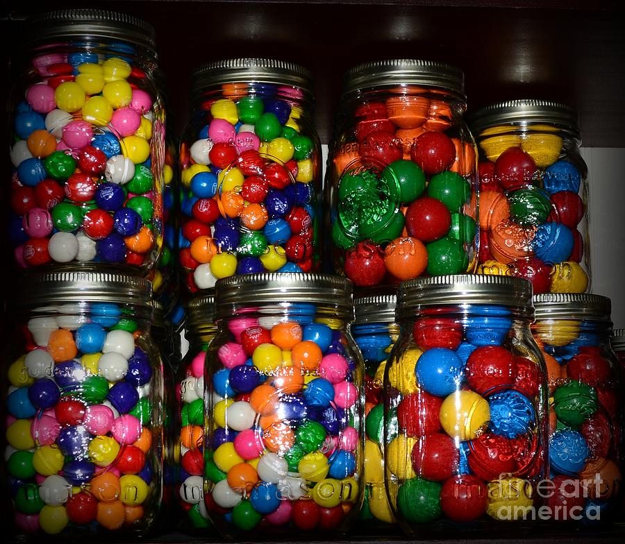 Colorful Gumballs Photograph  - Colorful Gumballs Fine Art Print