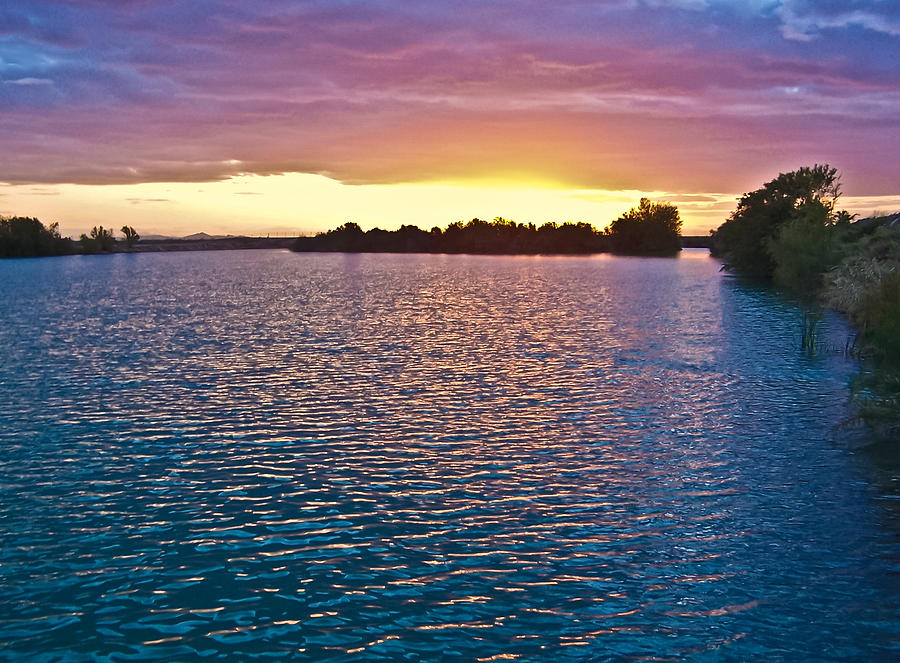 Colorful Lake Sunset Photograph  - Colorful Lake Sunset Fine Art Print