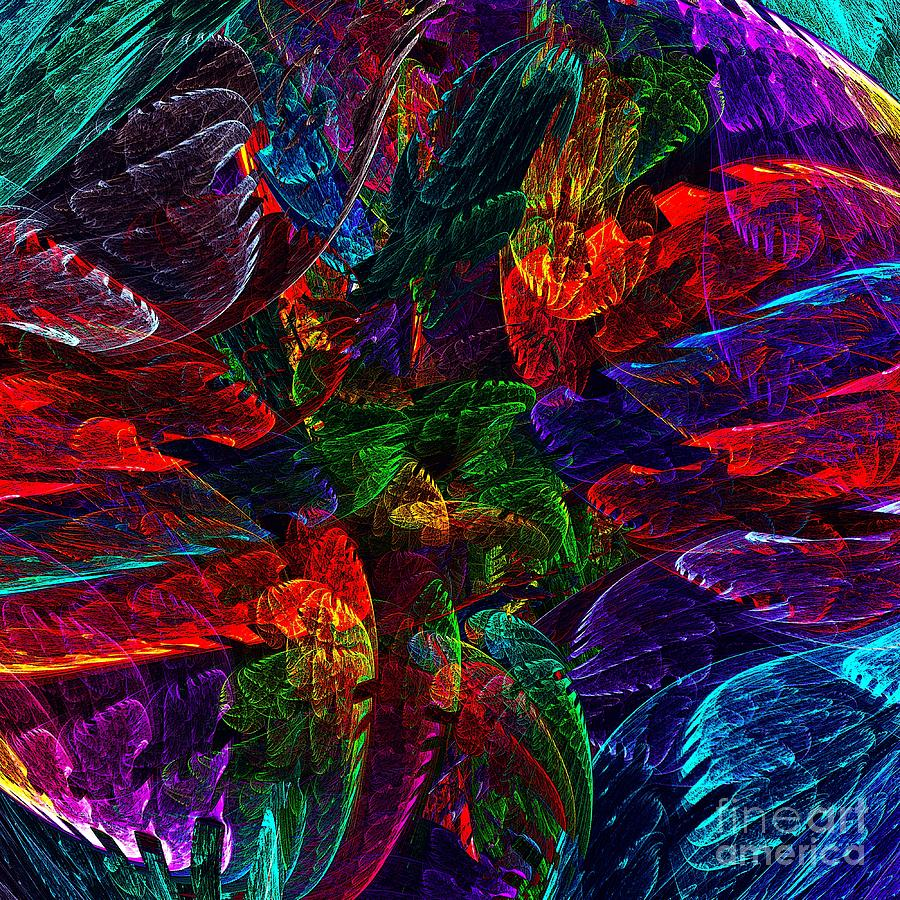 Colorful Leaves Digital Art