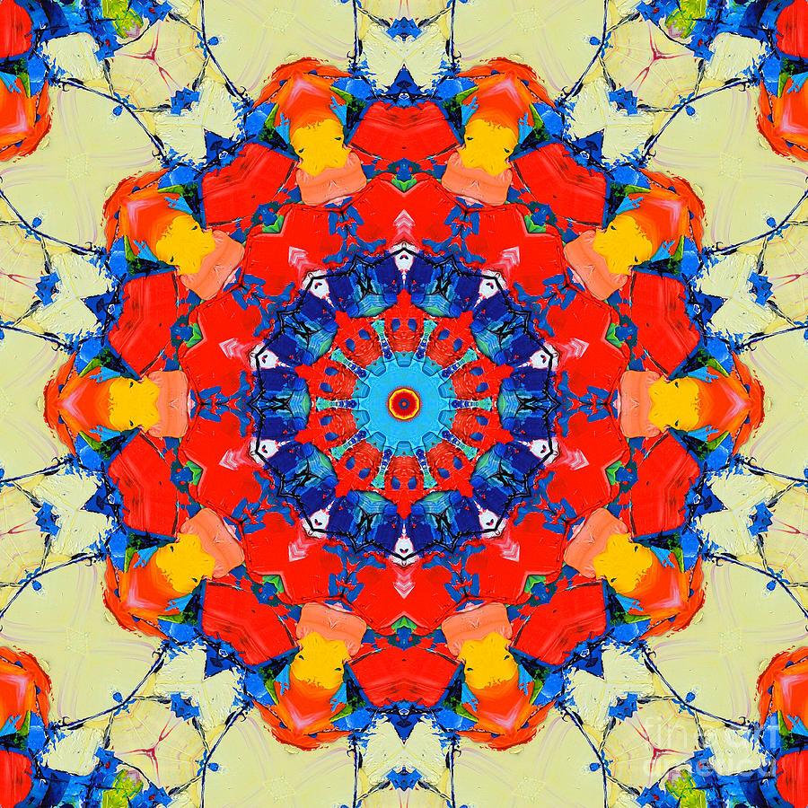Mandala Painting - Colorful Mandala by Ana Maria Edulescu