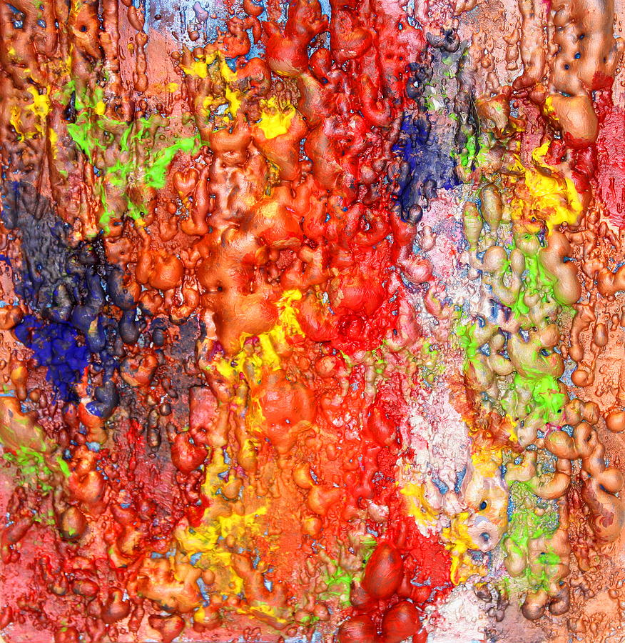 Colorful Mixed Media Painting  - Colorful Mixed Media Fine Art Print