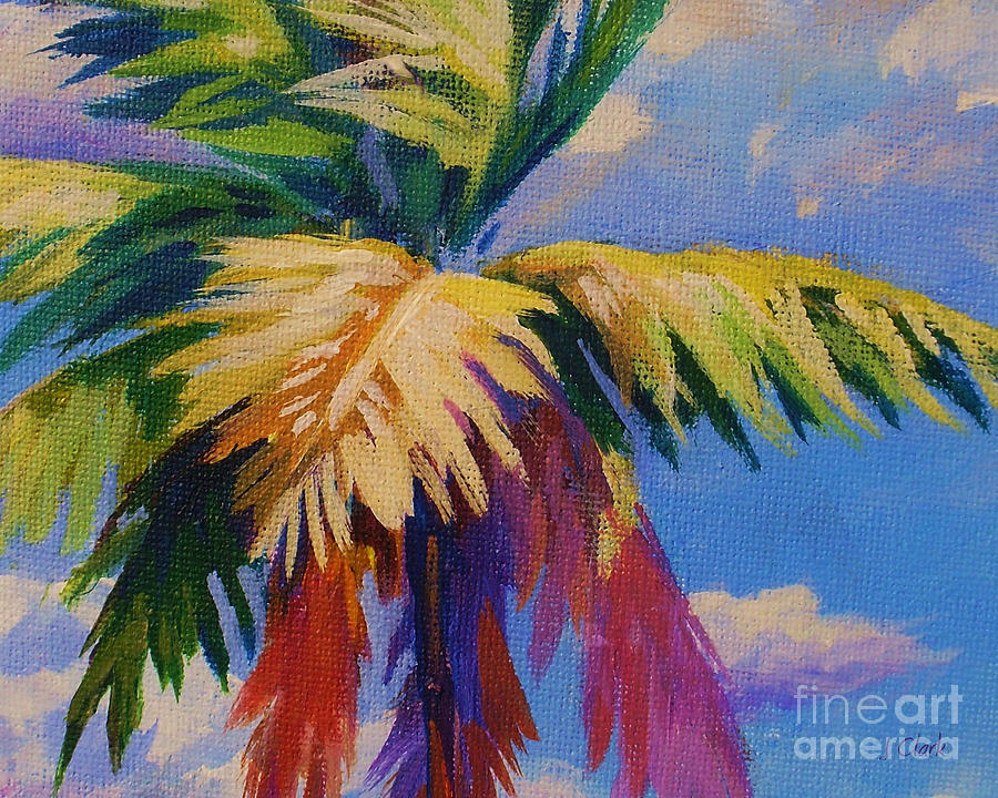 colorful palm painting by john clark. Black Bedroom Furniture Sets. Home Design Ideas
