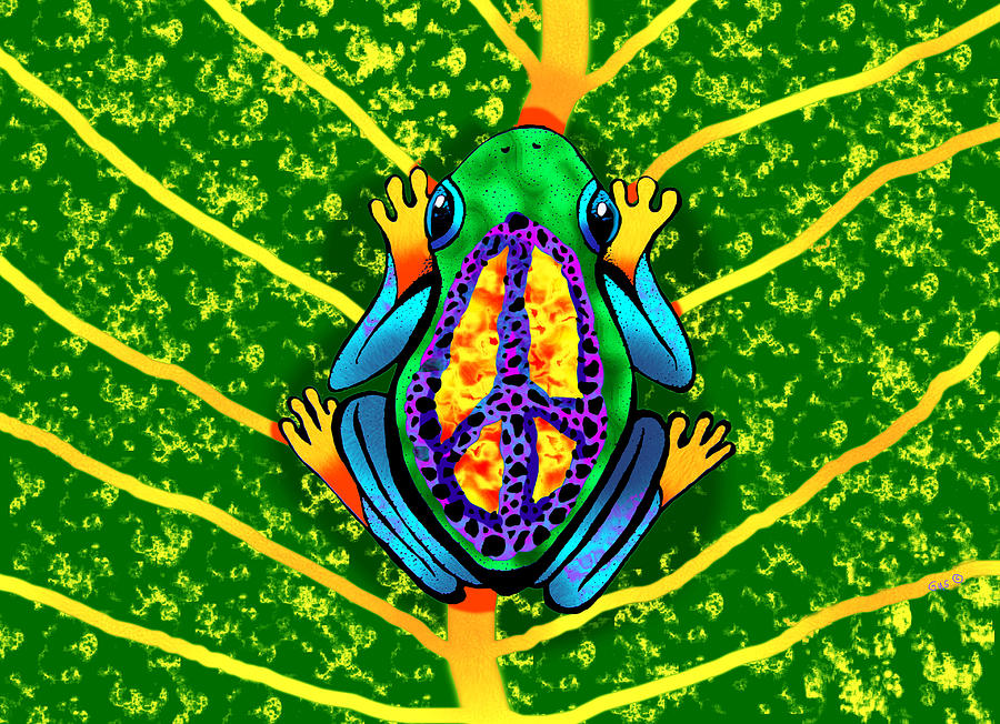frog art amphibian art