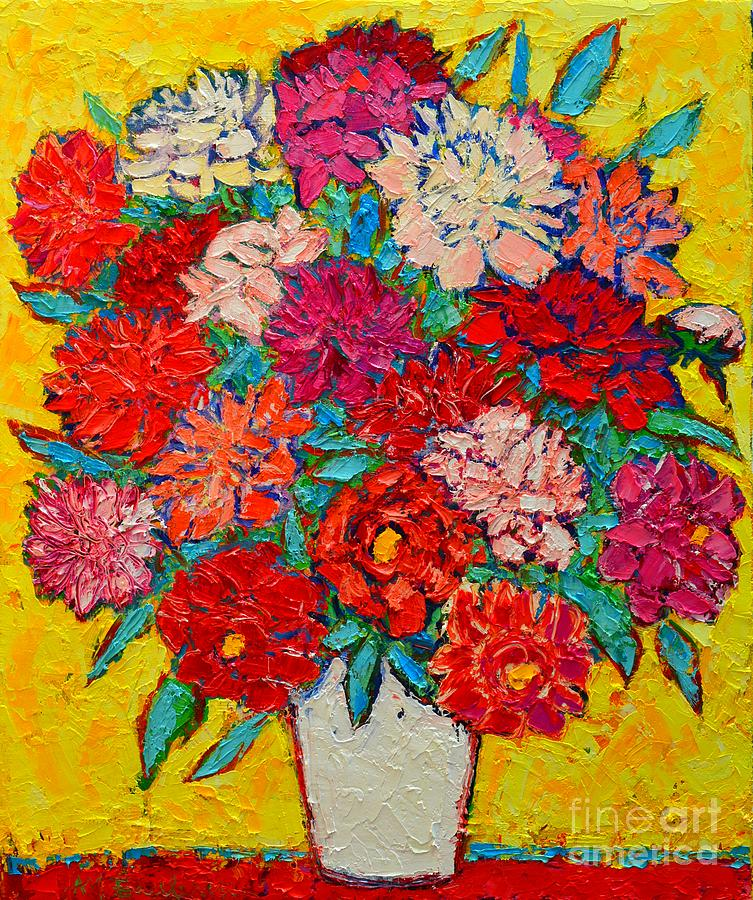 Colorful Peonies Painting