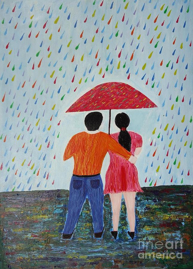 Colorful Rain Painting