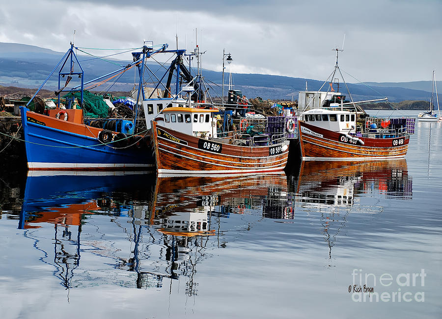 Scotland Photograph - Colorful Reflections by Lois Bryan