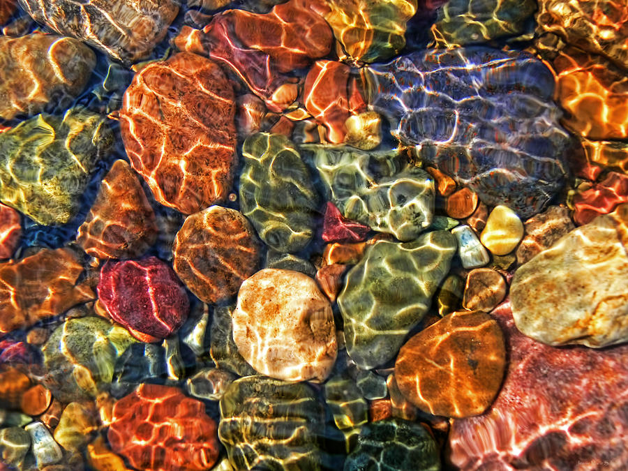 Colorful Rocks In Stream Bed Montana Photograph