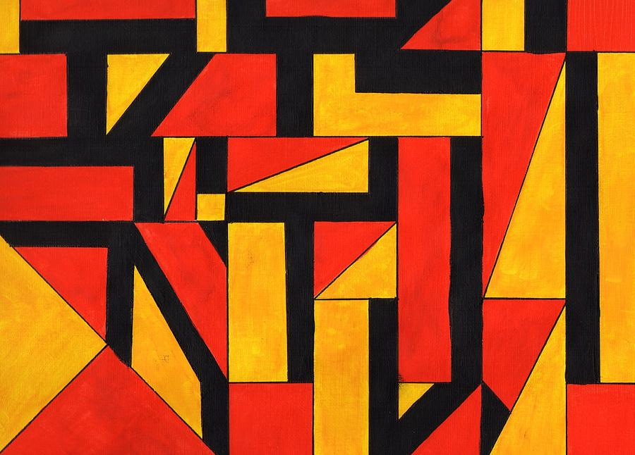 What Is Shape In Art : Colorful shapes painting by renee rice