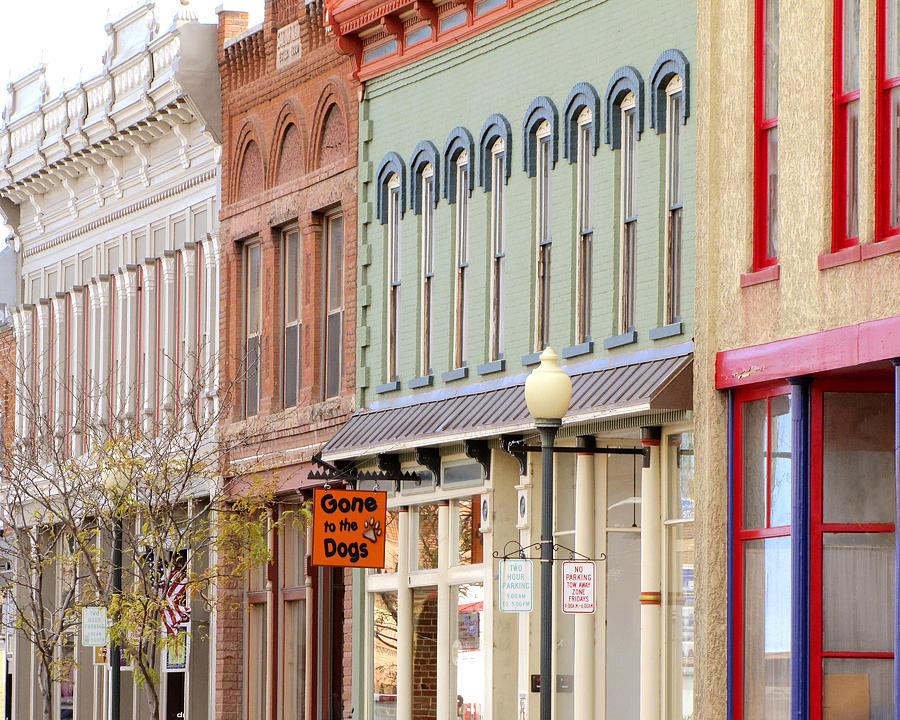 Colorful Shops Quaint Street Scene Photograph