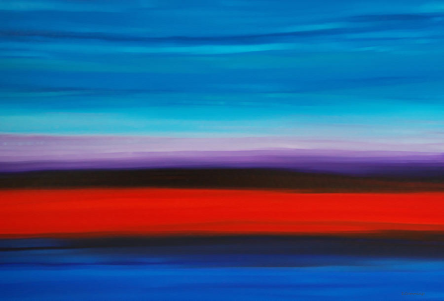 Colorful Shore - Abstract Art By Sharon Cummings Painting