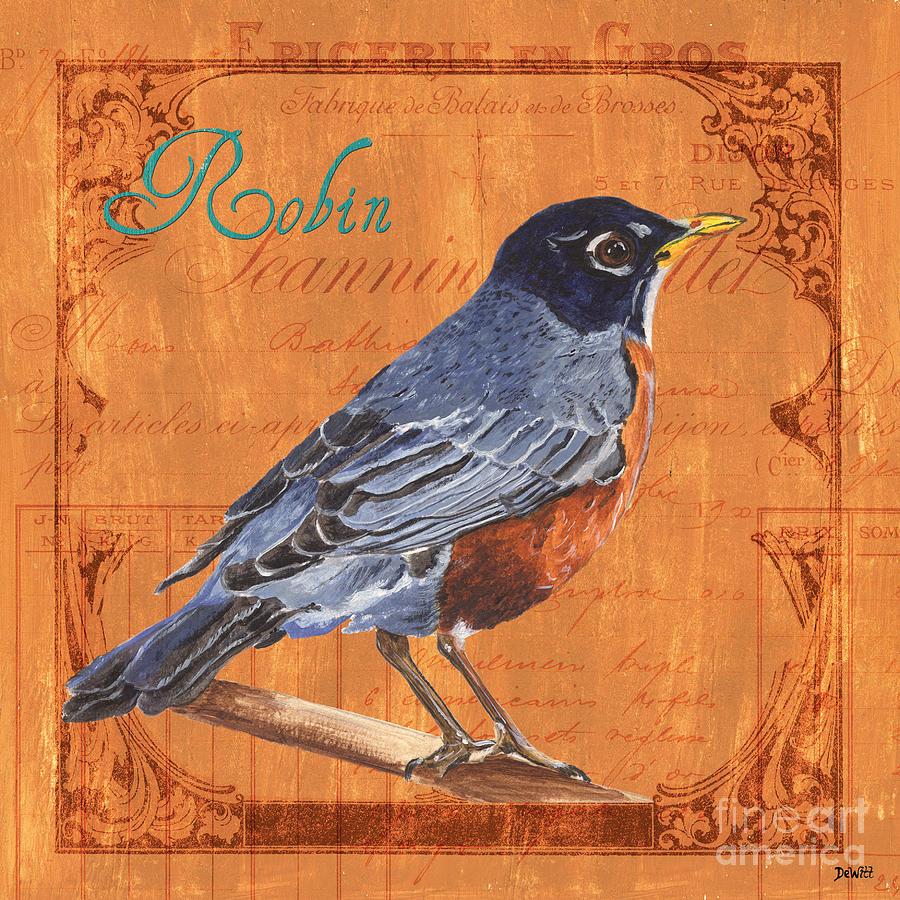 Bird Painting - Colorful Songbirds 2 by Debbie DeWitt