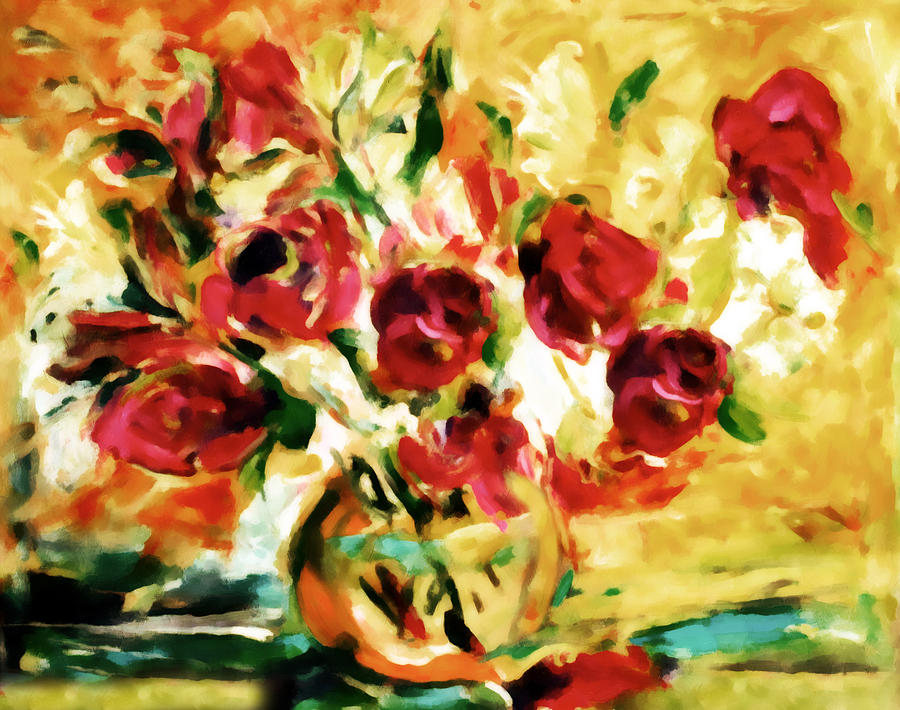 Colorful Spring Bouquet - Abstract  Painting