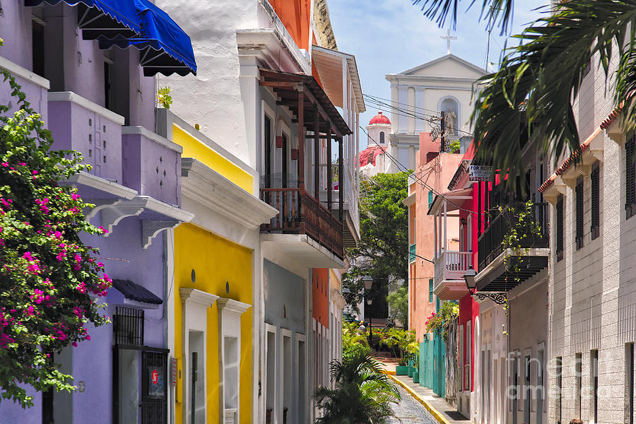 Colorful Street Of Old San Juan Photograph  - Colorful Street Of Old San Juan Fine Art Print