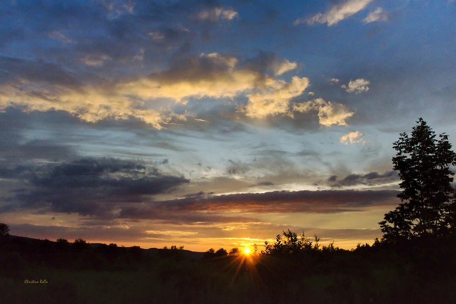 Colorful Sunset Landscape Photograph