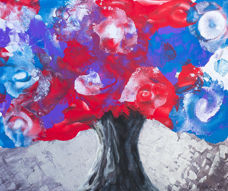 Colorful Tree Painting  - Colorful Tree Fine Art Print
