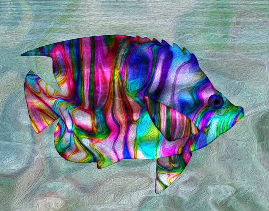 Colorful Tropical Fish Painting By Jack Zulli