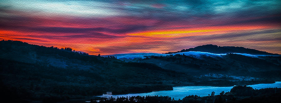 Colorful Twilight Panorama Photograph  - Colorful Twilight Panorama Fine Art Print
