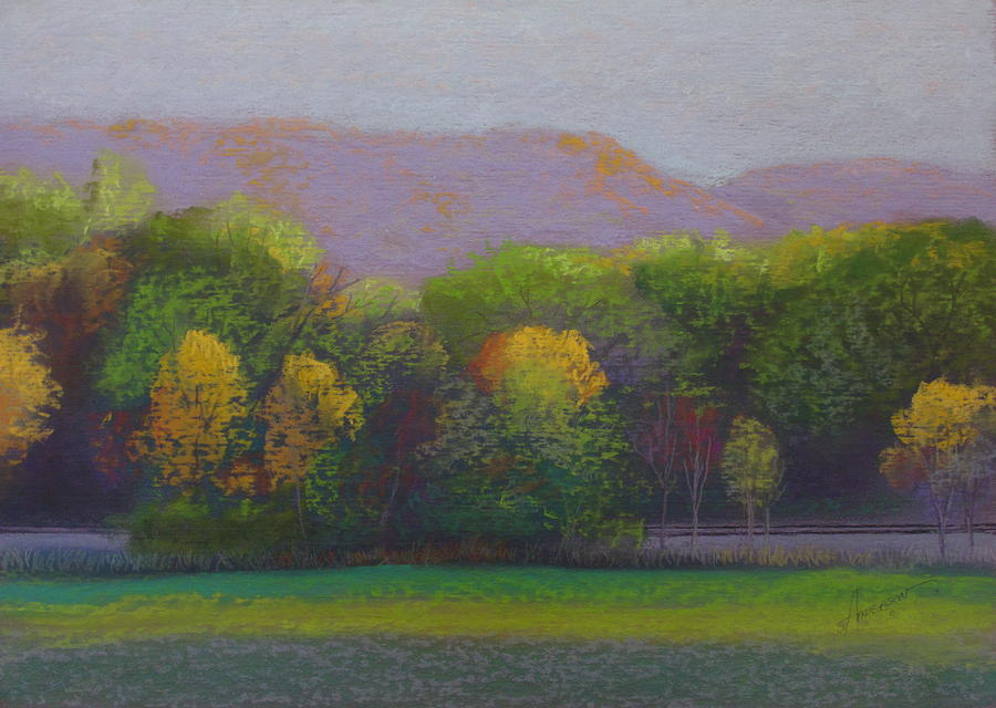 Landscape Pastel - Colors By The Tracks by Sherri Anderson